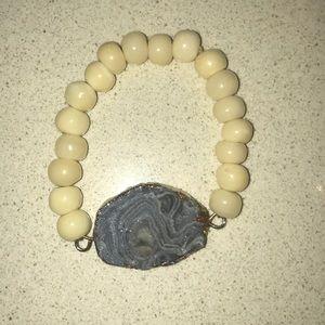Jewelry - Geode stone bracelet